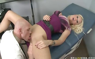 breasty blonde tanya james receives her headache