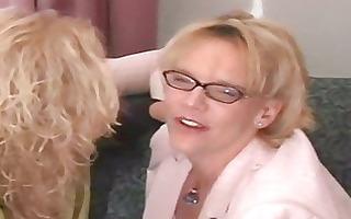 hot curvy blond grannies trio