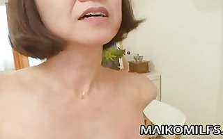 japanese granny takes a hard rod