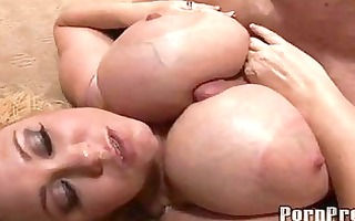 marvelous blonde momma doing hot titjob with her