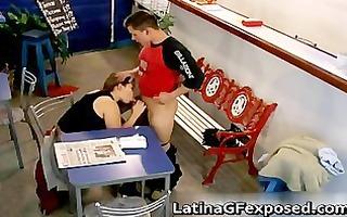 horny latina honey sucks and fucks part4
