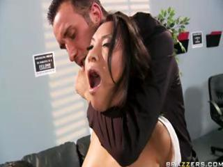 Hot Asian babe does a couple of cops in jail and