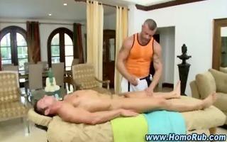 str chap massaged by manipulative homo bear