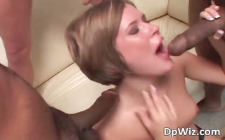 four large cocks in brunette hair whore