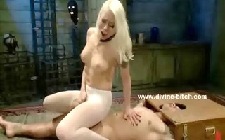 female-dom makes a female slave take up with the