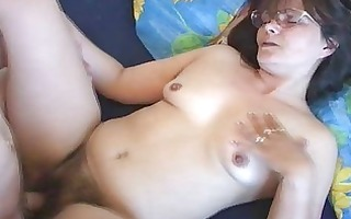 excited mom enjoys with fucking her slit