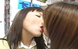 lesbos giving a kiss in public 2