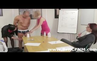 british cfnm women test skin lotion on boy
