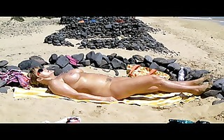 in nature on the beach of fuerteventura