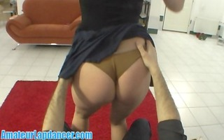 natural czech chick does outstanding lapdance