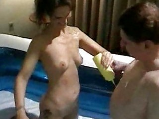 Hot Oily Party With Amber And Syrene