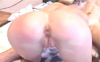 skinny golden-haired gets passionately fucked and