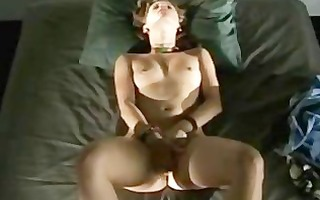 youthful blonde rubs her vagina