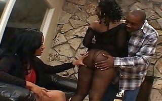 hawt swarthy threesome in a black porn movie