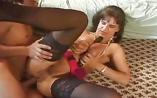sexy milf doing the works