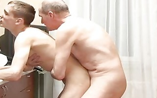 lewd stud fucking hard cute boy in the kitchen