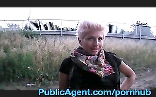 publicagent golden-haired lesbo takes ramrod for