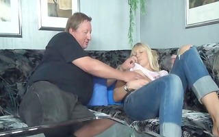 hot breasty golden-haired teen gets it is on with