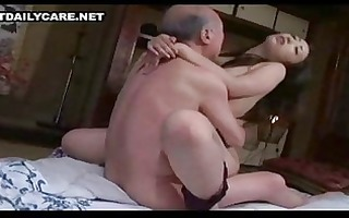 old and youthful asian pair 1