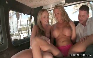bisexual blondes rub vaginas in 3some