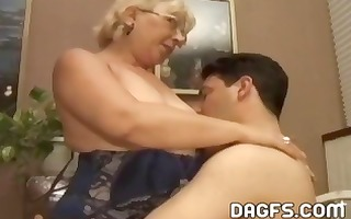 older granny acquires a younger shlong to engulf