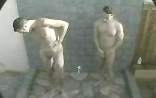 hot bareback outdoor shower act