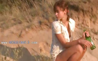 lovely natasha coed naked on the beach