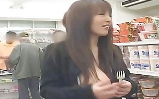 breasty japanese hitomi tanaka has sex in the shop