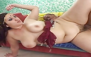 indian wife opens her pussy for a large pounder