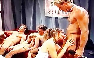 retro clip with group oral-stimulation scenes