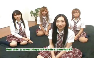 japanese v cuties have pleasure with an orgy