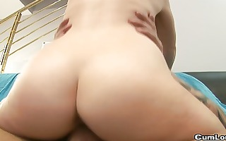 youthful lalin girl fucked very hard by a large