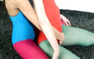 hairy lezzs in nylon panties loving