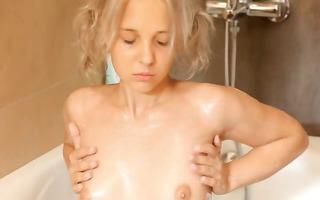 shaving of precious 18yo blonde vagina