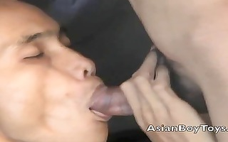 private asian paramour enjoy cock engulfing