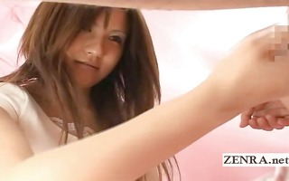 japanese amateur gives a bizarre cfnm wash and
