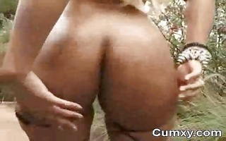 large booty afro hoe finger fucking and sucking