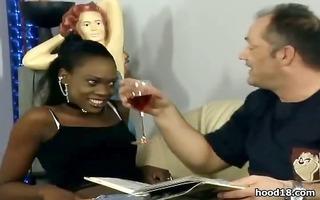 hawt black bitch receive her moist snatch screwed