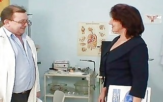 hairy snatch grandma visits pervy woman doctor