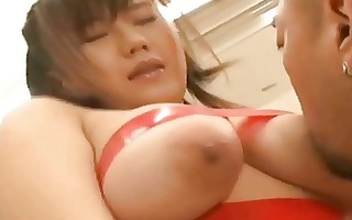 fastened japanese getting caressed and blows wang