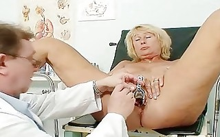 hawt busty granny milk cans and pussy gyno checkup