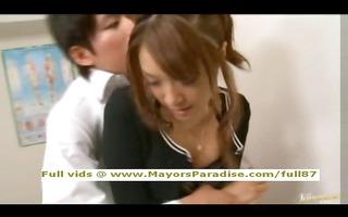 mihiro sinless oriental teen dark brown gets