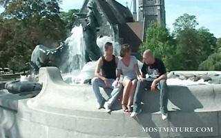 outdoor 3some with appealing d like to fuck