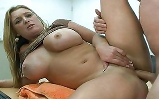 bulky blonde milf with giant scoops acquires