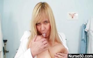 breasty lady irma got extremly hairy vagina
