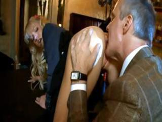 Hot blonde harlot gets pounded in her tight
