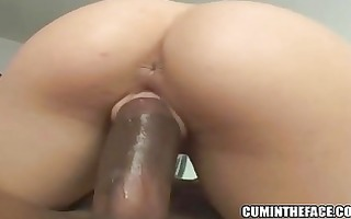 chick with glasses fucking a dark jock