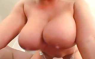 breasty brunette claire dames eats cock and get