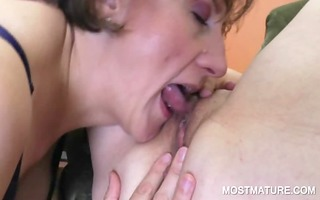 older lesbo licking pink bawdy cleft