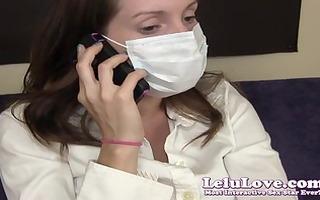 lelu love-medical mask oral sex tugjob